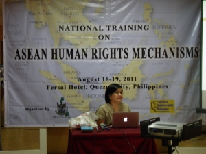 Atnike N. Sigiro, Program Manager on ASEAN Advocacy Department on FORUM-ASIA. Photo by TFDP