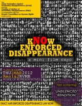 "[Event] ""KNOW ENFORCED DISAPPEARANCE"", a mini film expo on the global phenomenon of enforced or involuntary disappearance"