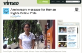 [Video] Anniversary message for Human Rights Online Phils by PhilDeafRes