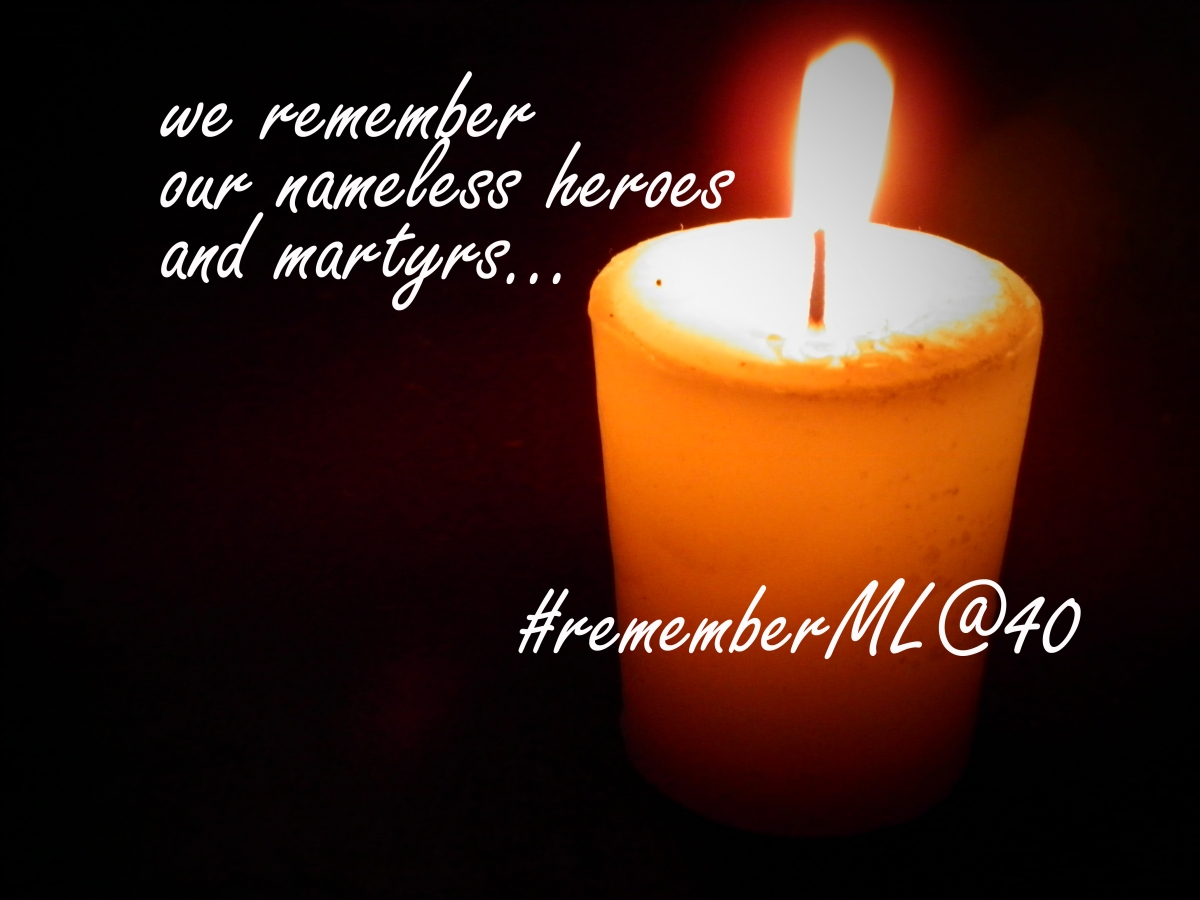 Light a candle for the disappeared, tortured and for all ...