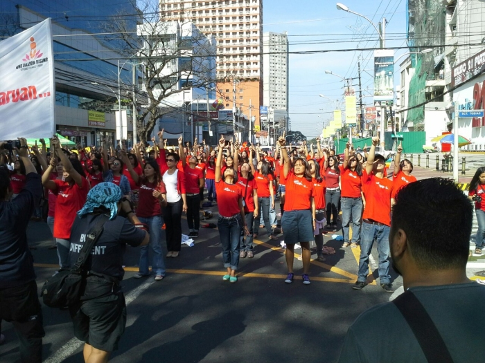 1BILLION RISING photo by Ging Cristobal