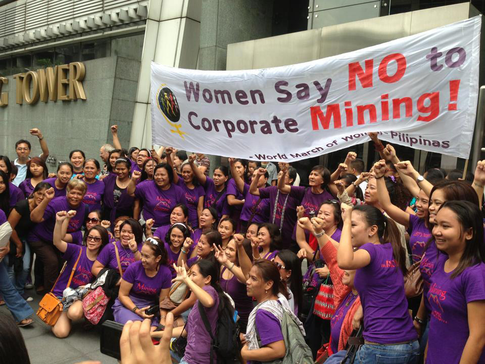 March 8 2013 Women say No to mining from HRD FB