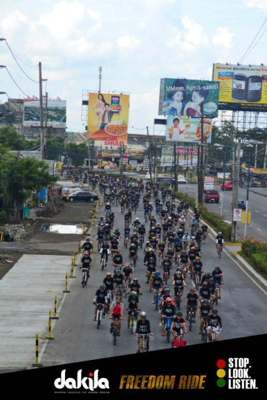 More than 400 cyclists joined the ride