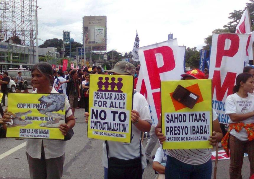 #SONA2013 Photo by Partido ng Manggagawa