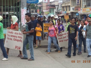 September 21, 2013 Mobilization against killings in Escalante. Photo from Merck Maguddayao