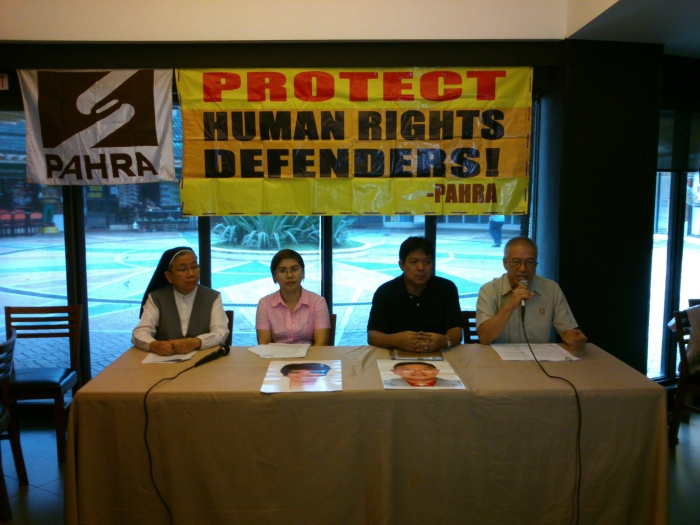 PAHRA in a presscon CHR Commissioners as defenders or violators of human rights