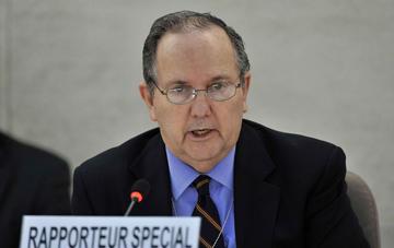 Special Rapporteur on torture Juan E. Méndez. Extracted from UN.org Photo Jean-Marc Ferré