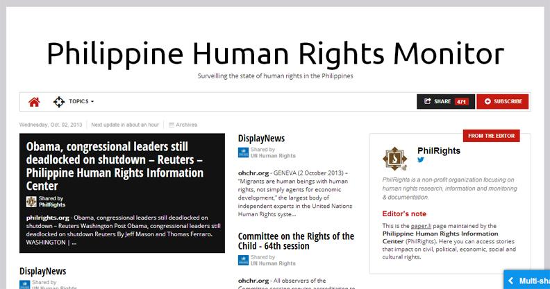 Philippine Human Rights Monitor copy