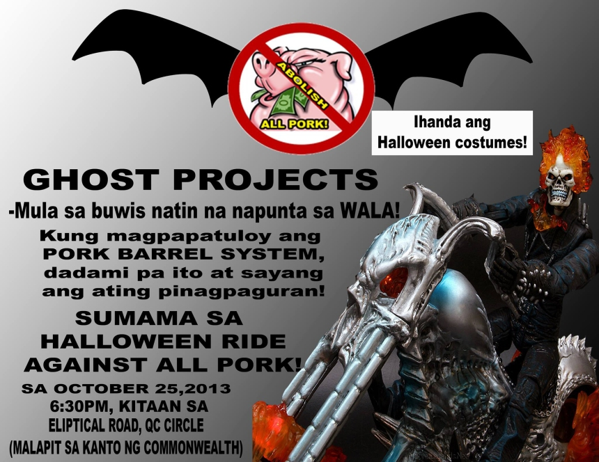 RIDE TO ABOLISH ALL PORK The Halloween Ride