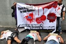 Tampakan Forum protest at SMI office in Makati. Photo by Romel De Vera