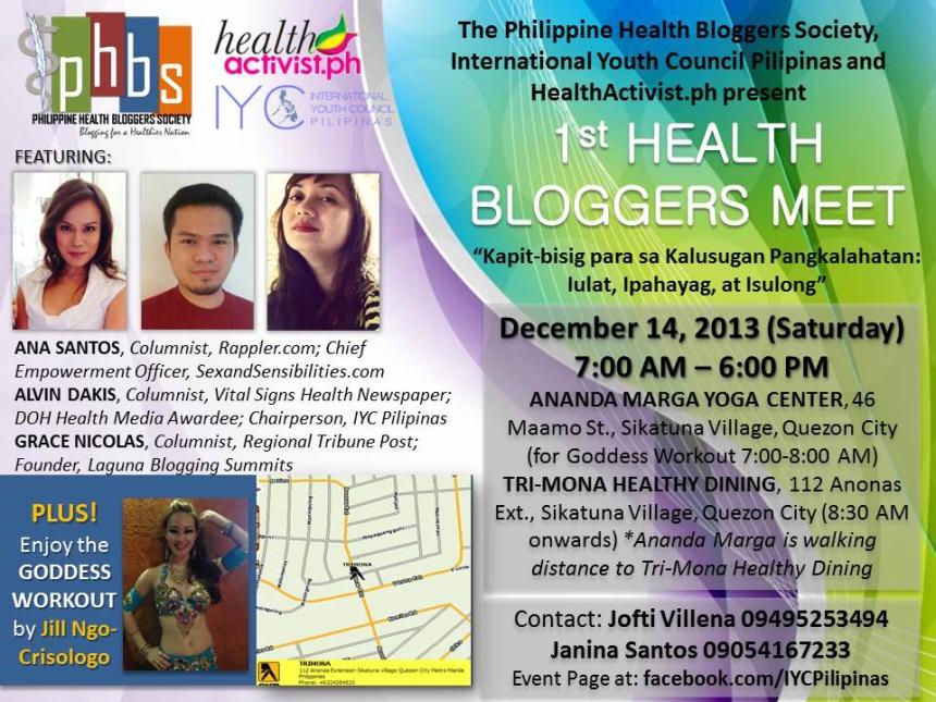 1st PHBS Health Bloggers Meet