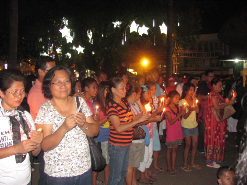 LightUP4 Yolanda, LightUP4 Rights, in Davao. Photo by TFDP Mindanao