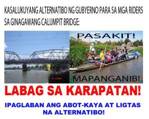 isyu sa Calumpit Bridge