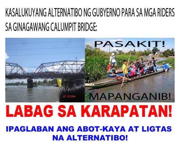 isyu sa Calumpit Bridge