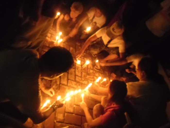 TFDP Visayas and other HRDs LightUP4 Yolanda Victims LightUP4 Rights on December 10 Human Rights Day in Cebu