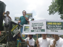 Rep. Teddy Brawner Baguilat during Green March 2014 in Q.C. Photo by CLUP Now!
