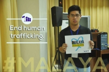 #MALAYA End Human Trafficking campaign and Photo by SCAP
