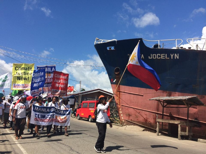 The ship that ravaged a community still stands as a reminder of what happened one year ago during typhoon Yolanda's landfall. www.facebook.com/ClimateWalkNow
