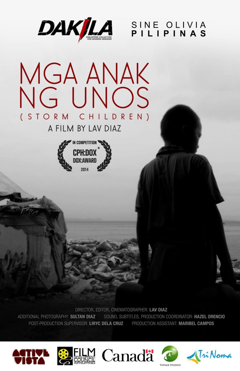 [Press Release] Lav Diaz' Storm Children Premieres in the Philippines in Time for Anniversary of Typhoon Yolanda -Dakila