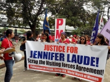 Photo extracetd from Justice for Jennifer Laude FB page