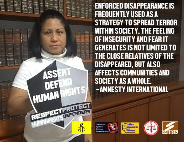 Gemma Cunanan, Section Director, Amnesty International Philippines (AIph)