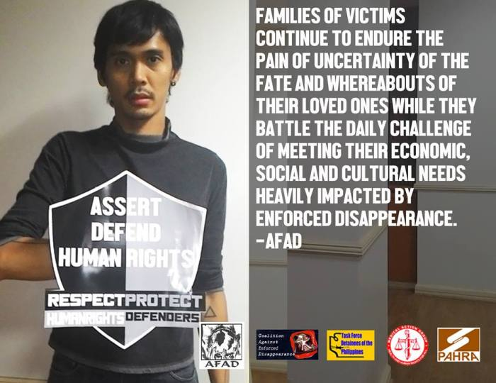 Ron De Vera, ASIAN FEDERATION AGAINST ENFORCED DISAPPEARANCE (AFAD)