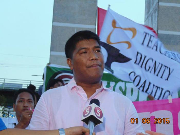 Benjo Basas, National Chairperson, Teachers Dignity Coalition (TDC). Photo by Arnel Tuazon