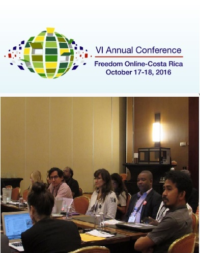 Human Rights Online Philippines in the VI Annual Conference of the Freedom Online Coalition, October 17-18, 2016 in San Jose, Costa Rica
