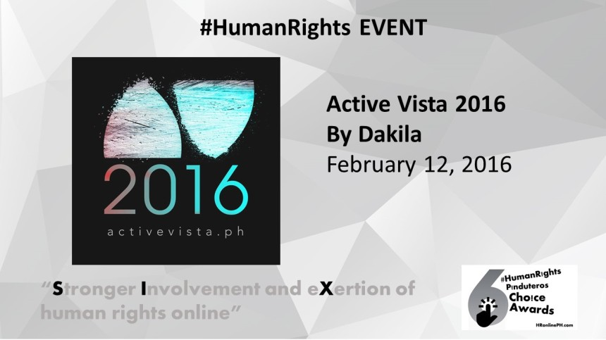 Active Vista by DAKILA is the 6th HR Pinduteros Choice for HR Event
