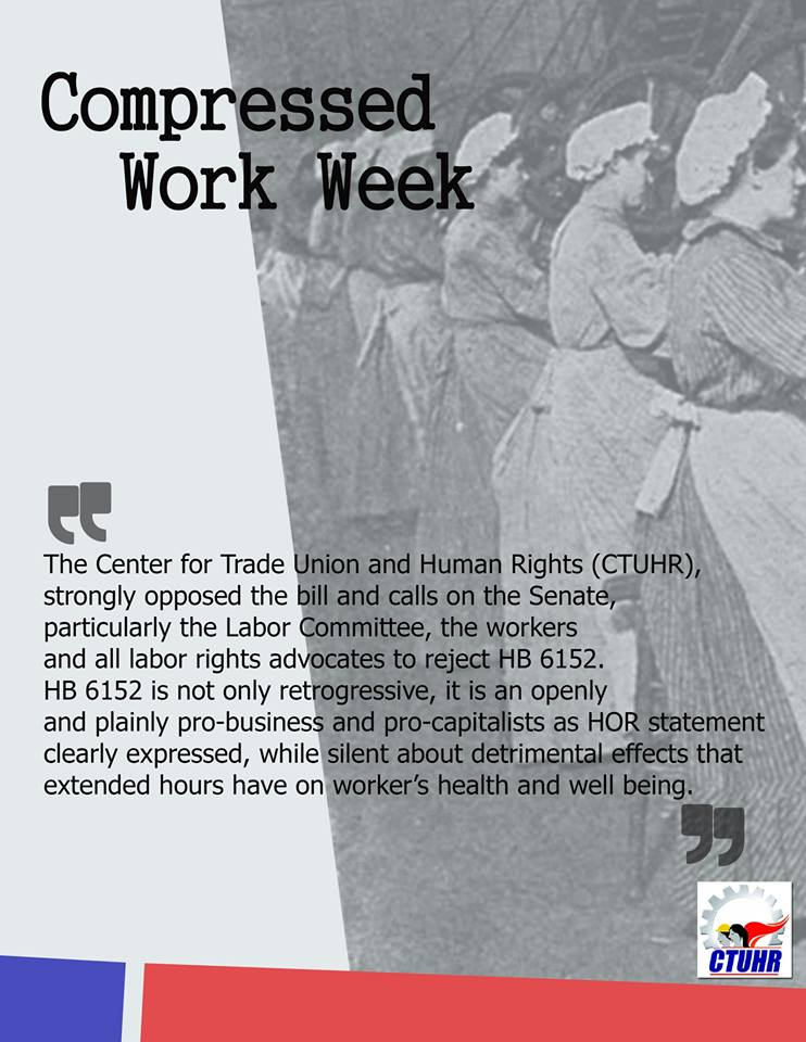 Statement On Proposed Compressed Work Week Ctuhr Human Rights