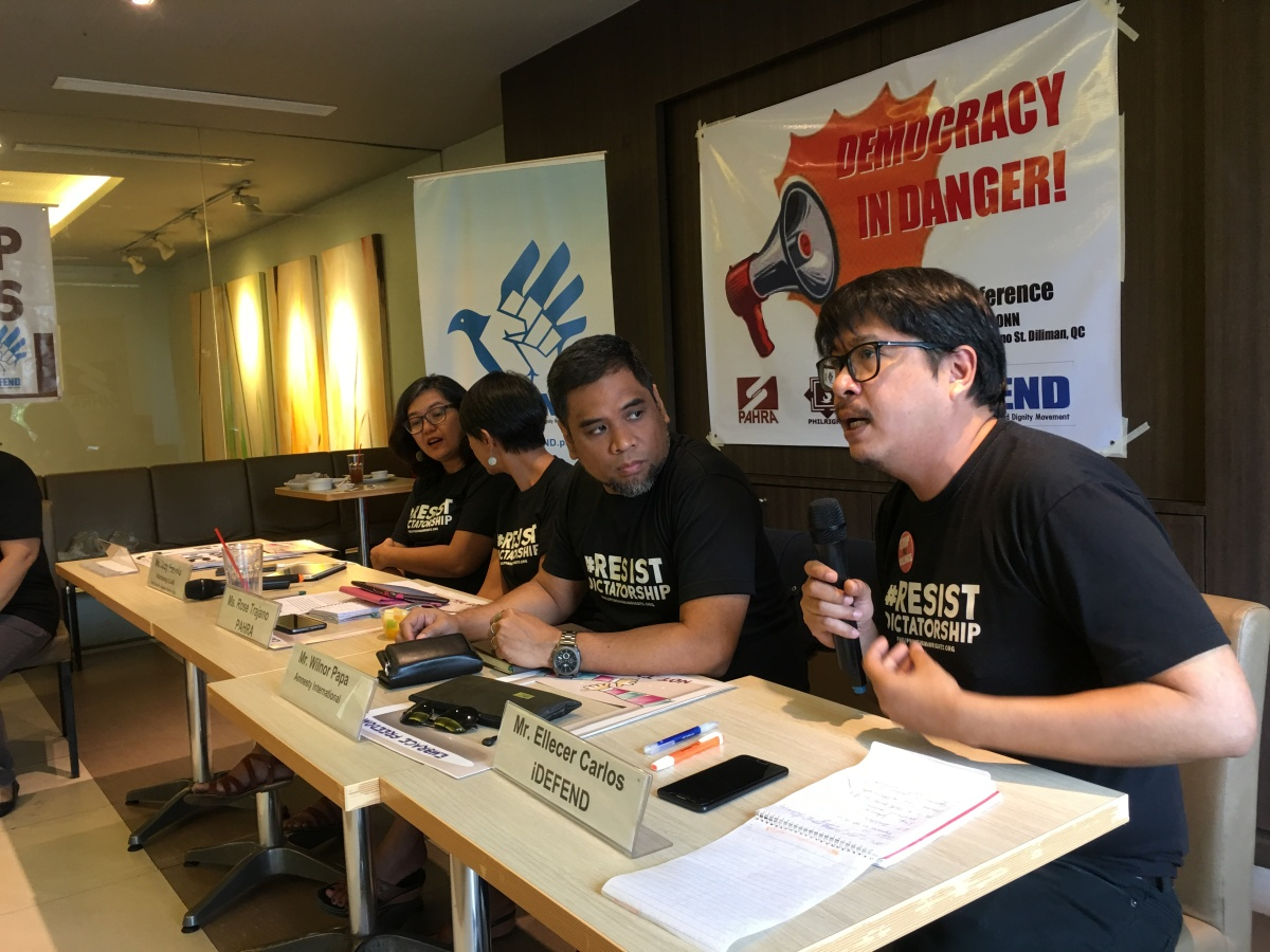 [Press Release] Philippine democracy in danger — IDEFEND