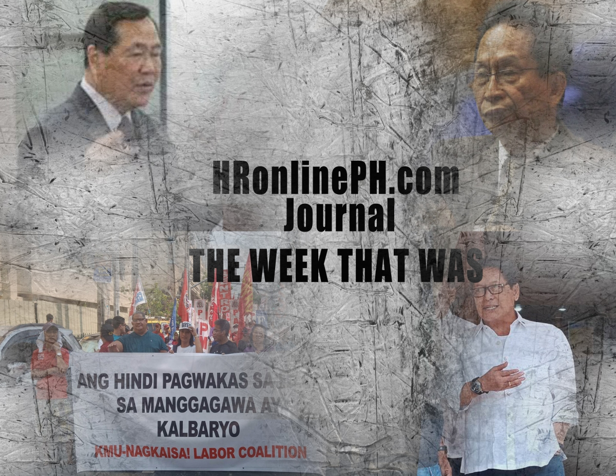 HRonlinePH.com journal: THE WEEK THAT WAS -21 April