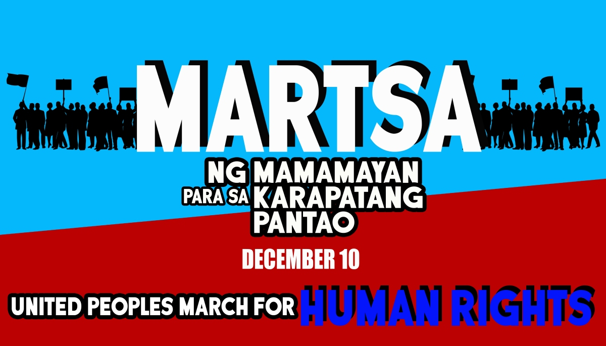 [Event] Martsa ng Mamamayan para sa Karapatang Pantao or United Peoples March for Human Rights